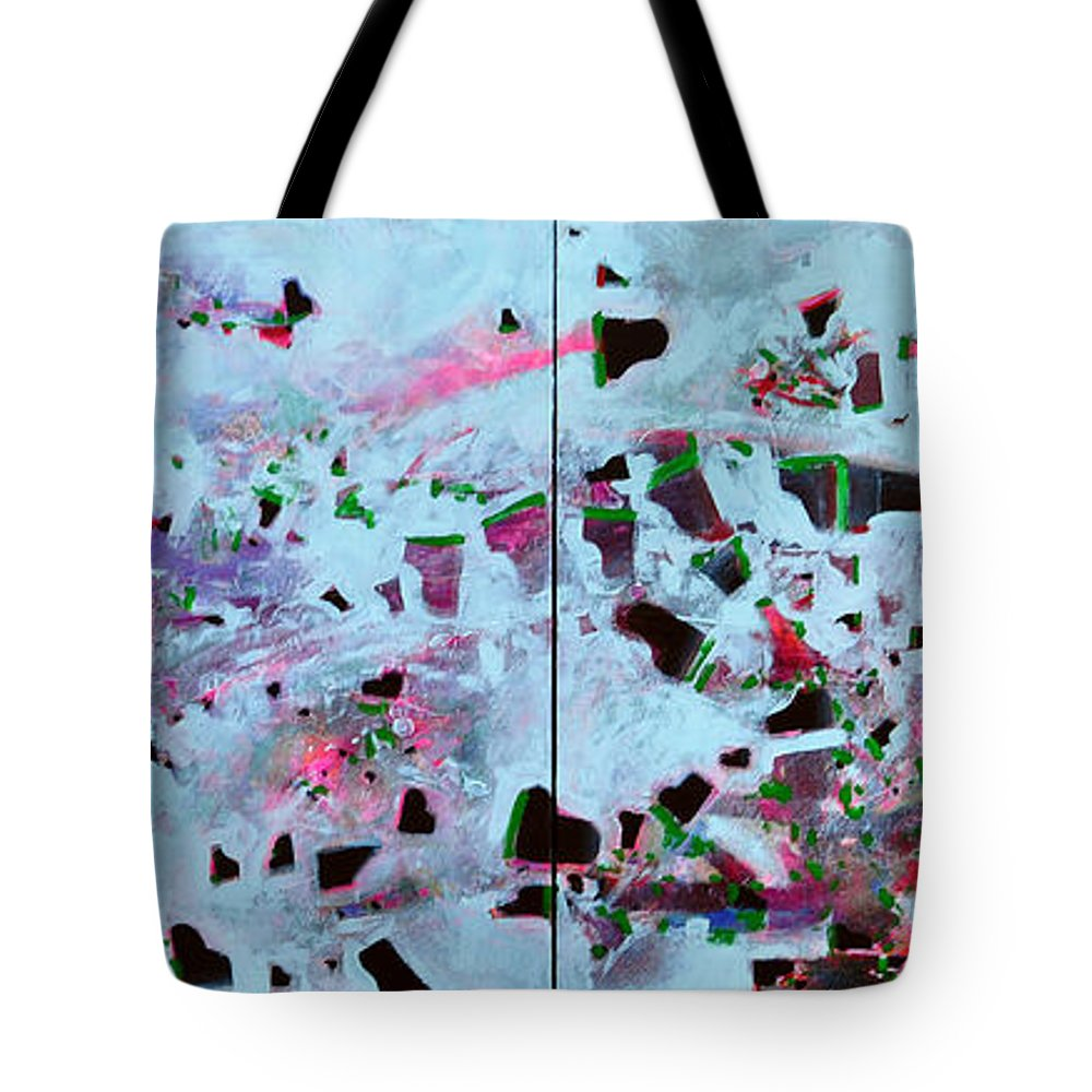 Abstract Tote Bag featuring the painting Dramatic Grands by Raymond Chow
