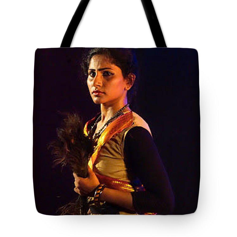 Draupadi Drama Tote Bag featuring the photograph Draupadi by Vijayan Madhavan
