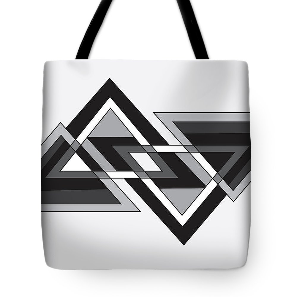 Illustration Tote Bag featuring the drawing Drawn2shapes6bnw by Maggie Mijares