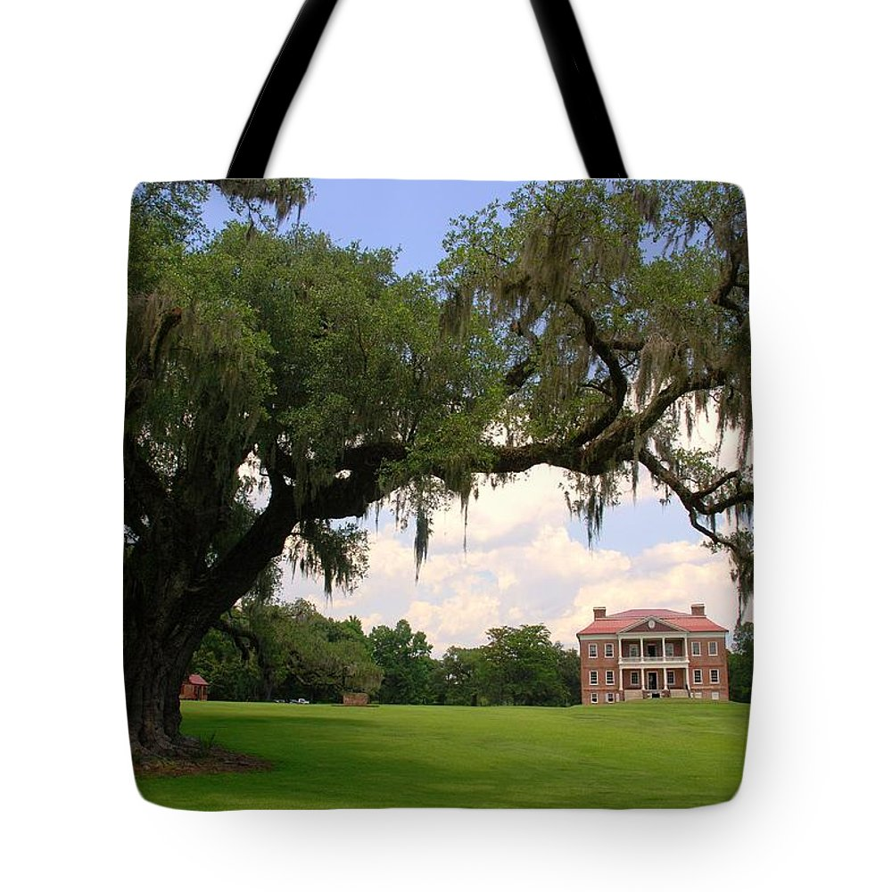 Photography Tote Bag featuring the photograph Drayton Hall Plantation Charleston by Susanne Van Hulst