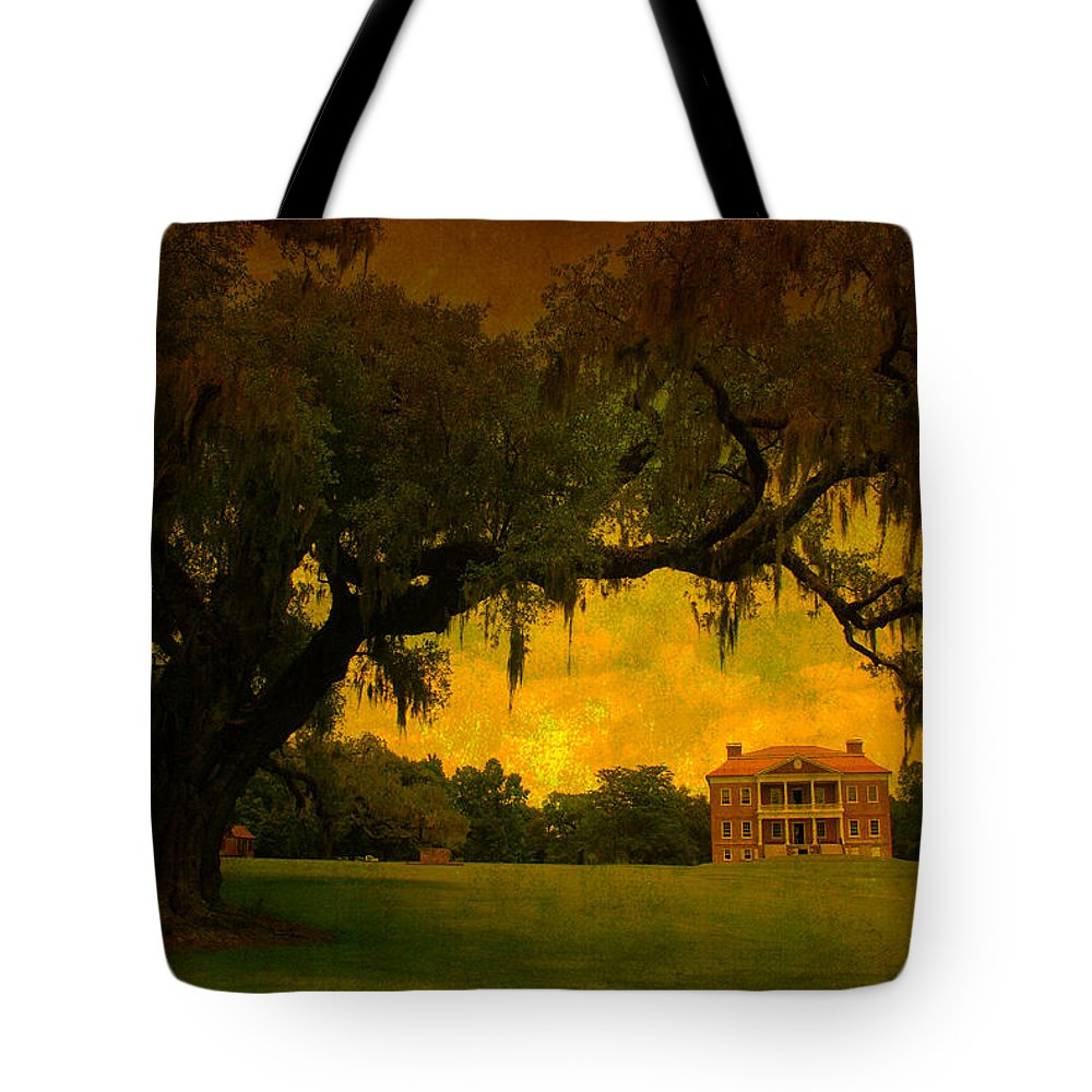 Plantation House Tote Bag featuring the photograph Drayton Hall Plantation In Charleston by Susanne Van Hulst