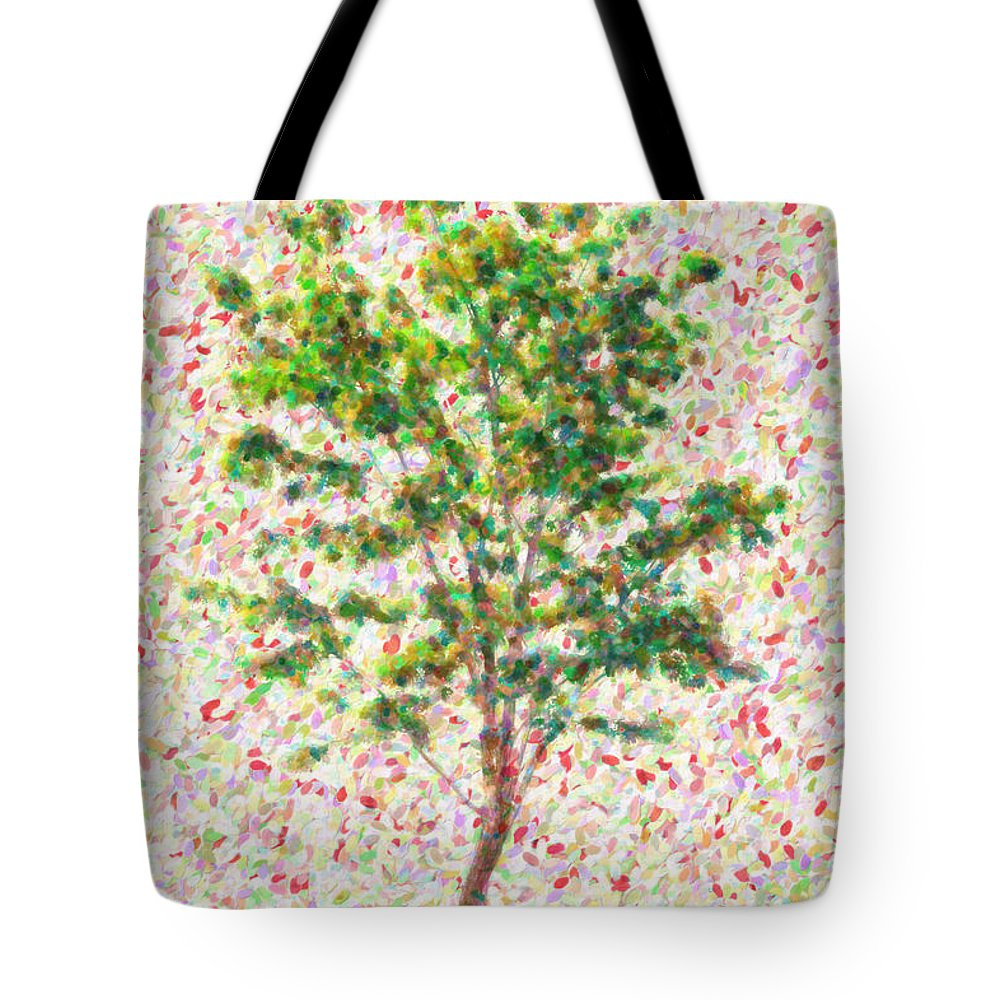 Tree Tote Bag featuring the painting Dream Argument by Zapista