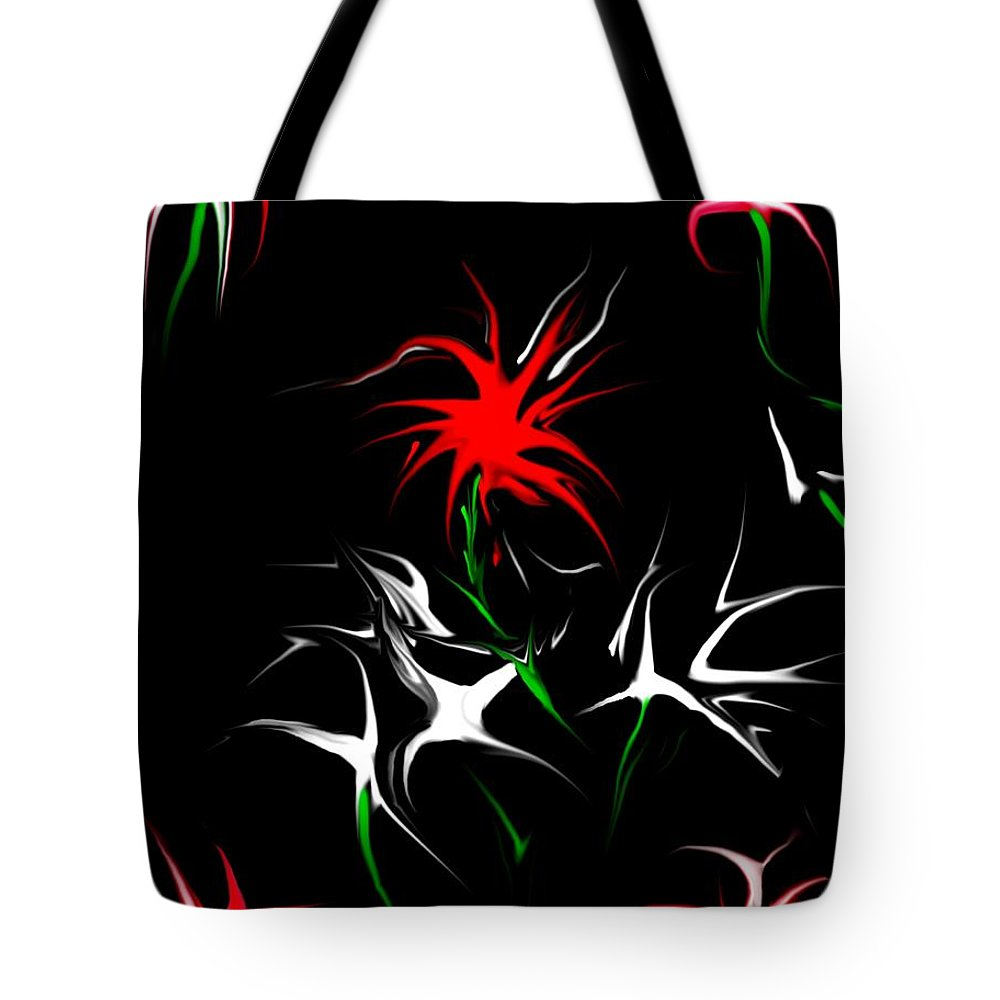 Abstract Tote Bag featuring the digital art Dream Garden II by David Lane