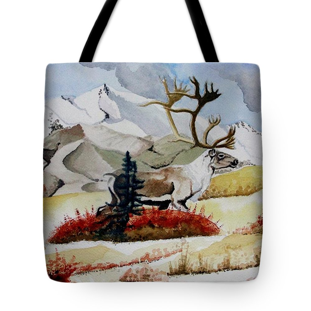 Alaska Tote Bag featuring the painting Dream Hunt by Jimmy Smith