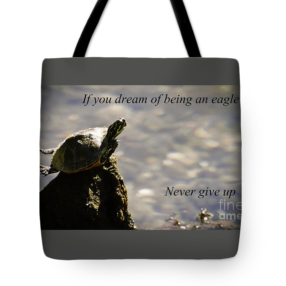 Turtle Tote Bag featuring the photograph Dream Of Being An Eagle by Tress Chapin