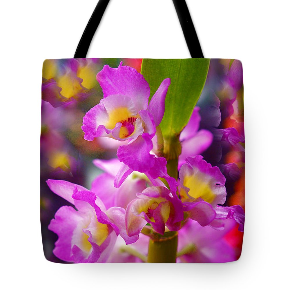 Orchids Tote Bag featuring the photograph Dream Of Spring by Byron Varvarigos