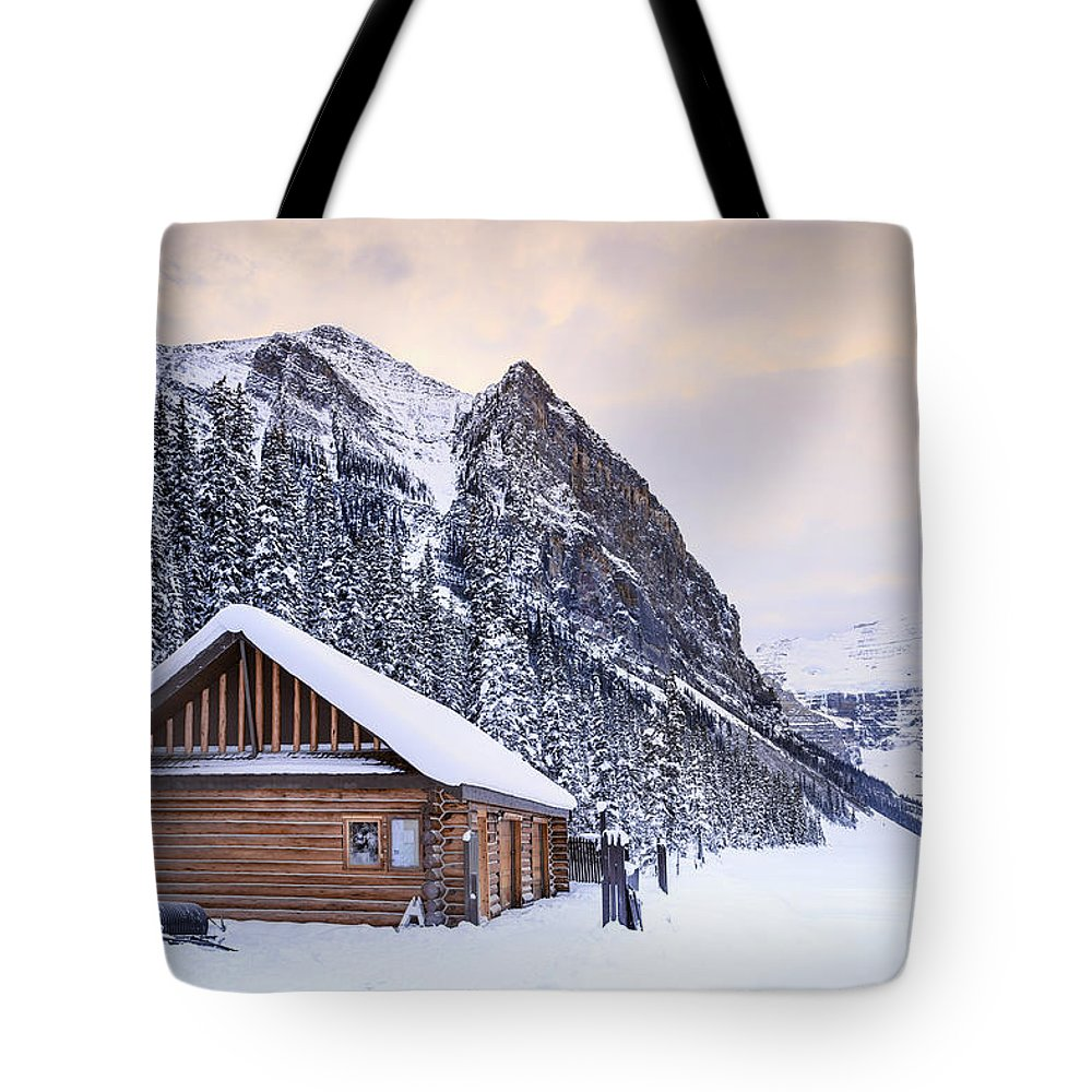 Log Cabin Photographs Tote Bags