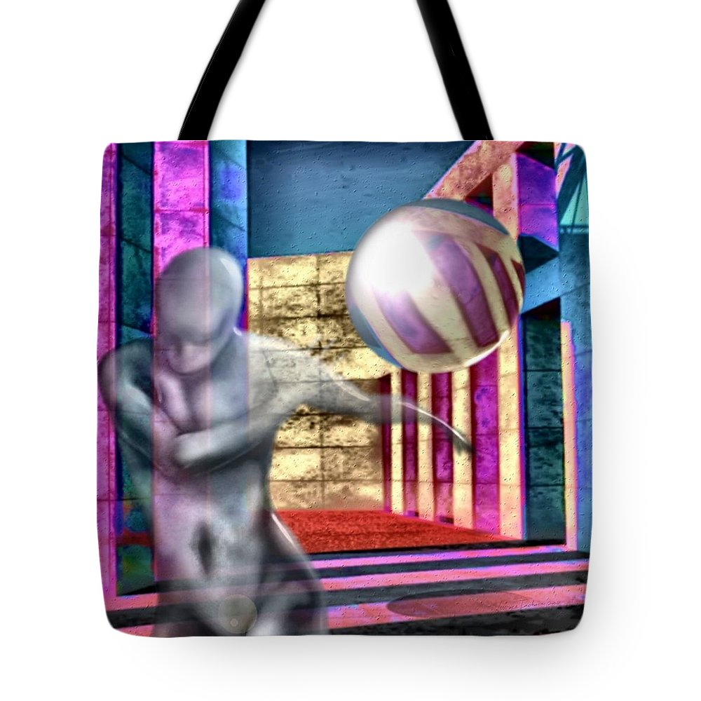 Playground Game Ball Colors Tote Bag featuring the digital art Dream Play by Veronica Jackson