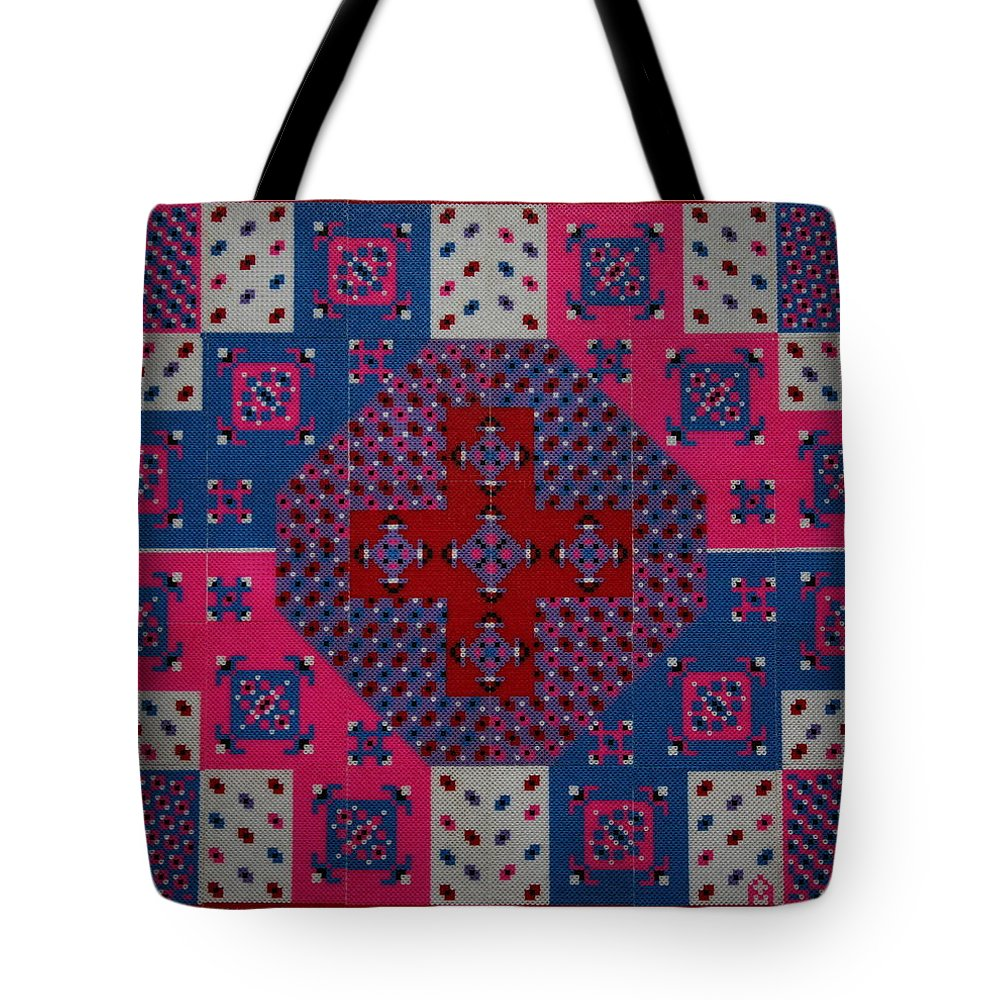 Pearlerbeadart Tote Bag featuring the mixed media Dream Reflections 06 by Alpana Mittal