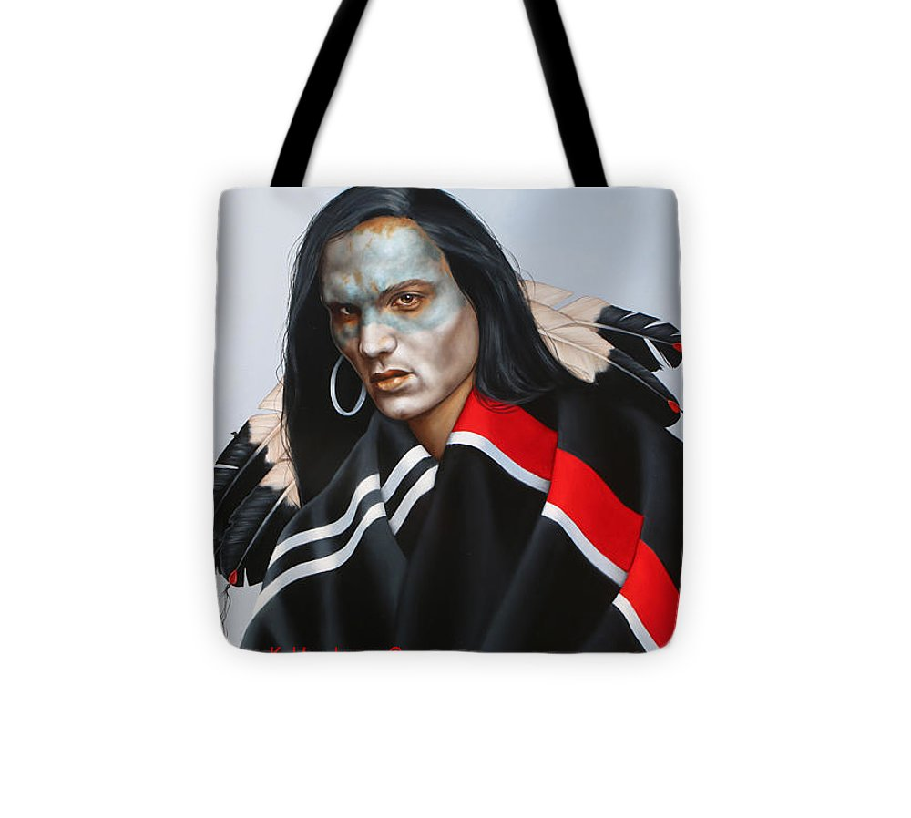 American Indian Tote Bag featuring the painting Dream Within A Dream by K Henderson