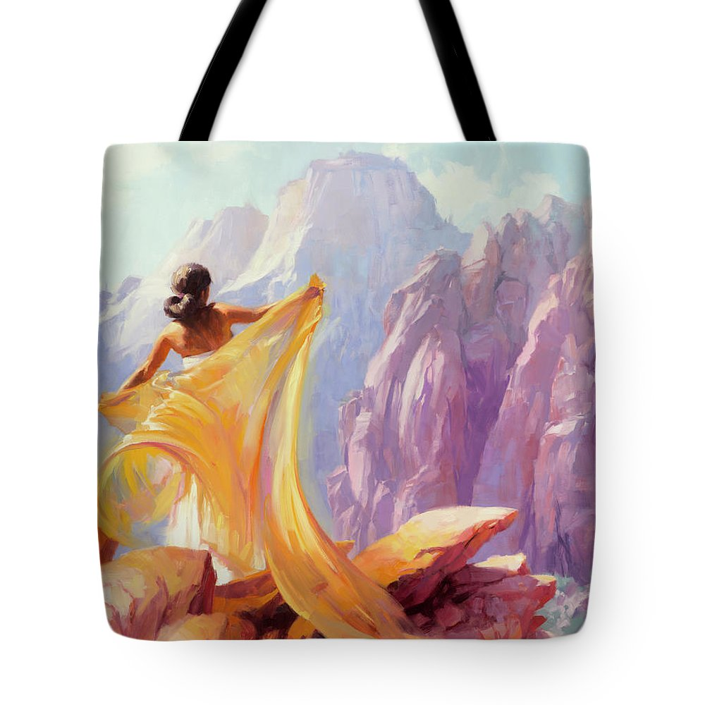 Southwest Tote Bag featuring the painting Dreamcatcher by Steve Henderson