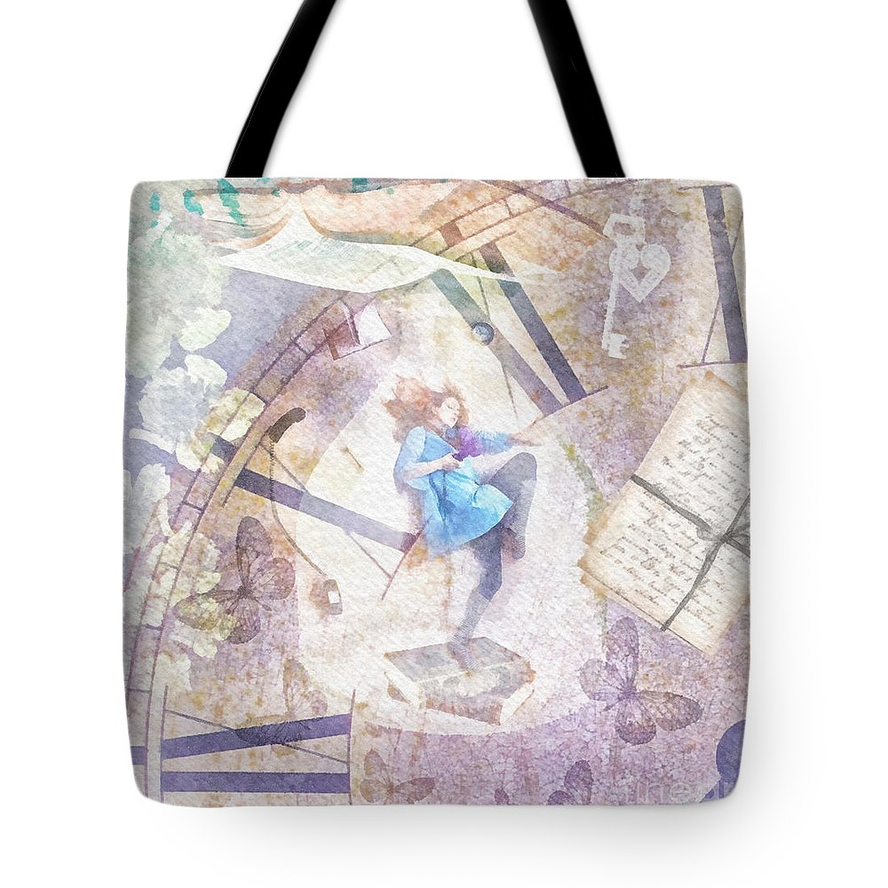 Dreamer Tote Bag featuring the painting Dreamer by Mo T