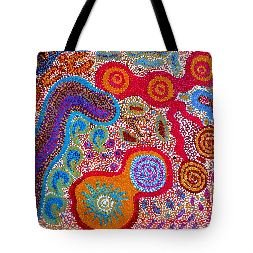 Art Tote Bag featuring the painting Dreaming 3 by Angie Wright
