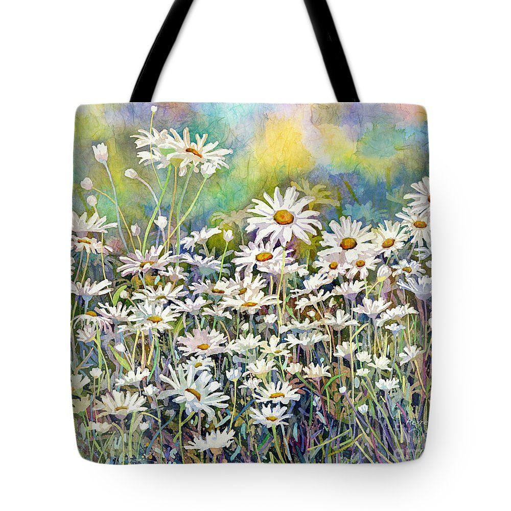 Daisy Tote Bag featuring the painting Dreaming Daisies by Hailey E Herrera