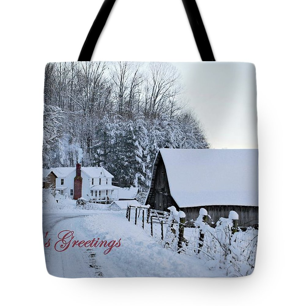 Virginia Tote Bag featuring the photograph Dreaming Of A White Christmas by Benanne Stiens