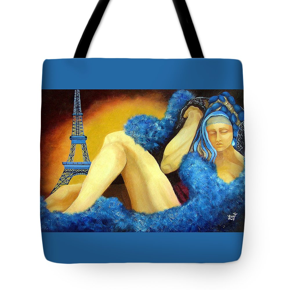 Paris Tote Bag featuring the painting Dreaming Of Paris by Elizabeth Lisy Figueroa