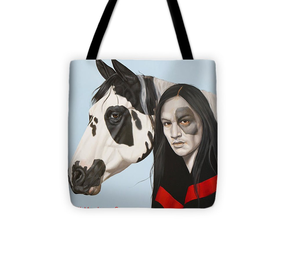 Cowgirl Tote Bag featuring the painting Dreams Await by K Henderson