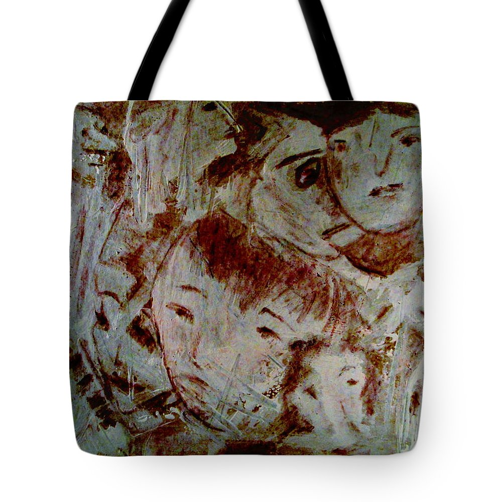 Expressionism Tote Bag featuring the mixed media Dreams by Natalie Holland