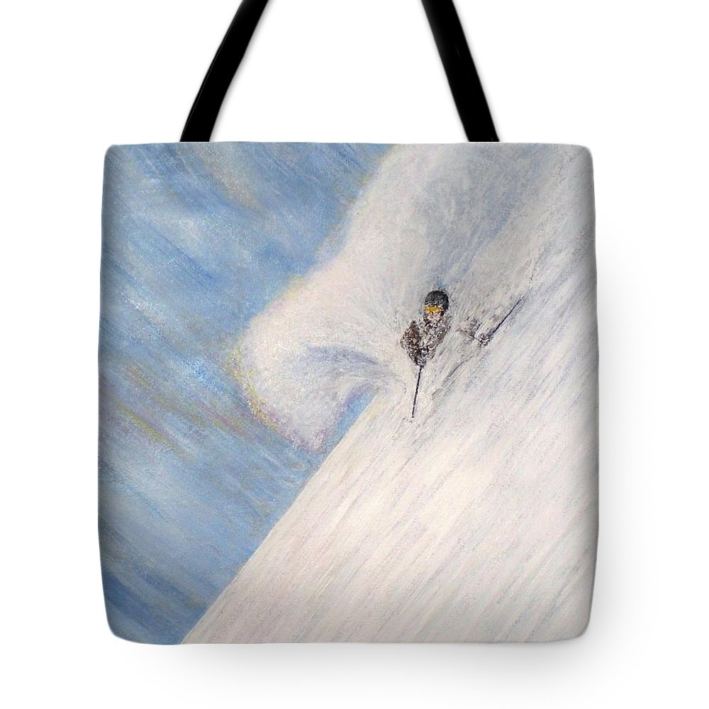 Landscape Tote Bag featuring the painting Dreamsareal by Michael Cuozzo