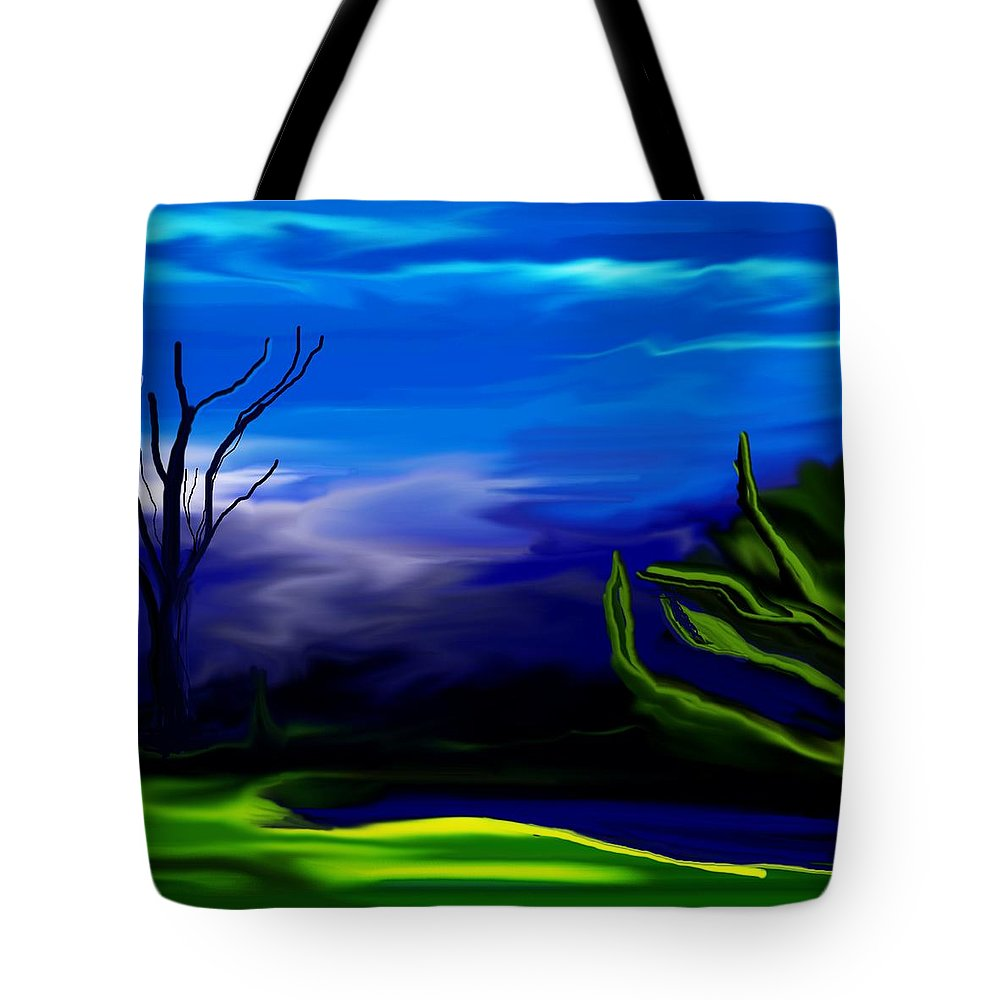 Dreamscape Tote Bag featuring the digital art Dreamscape 062310 by David Lane