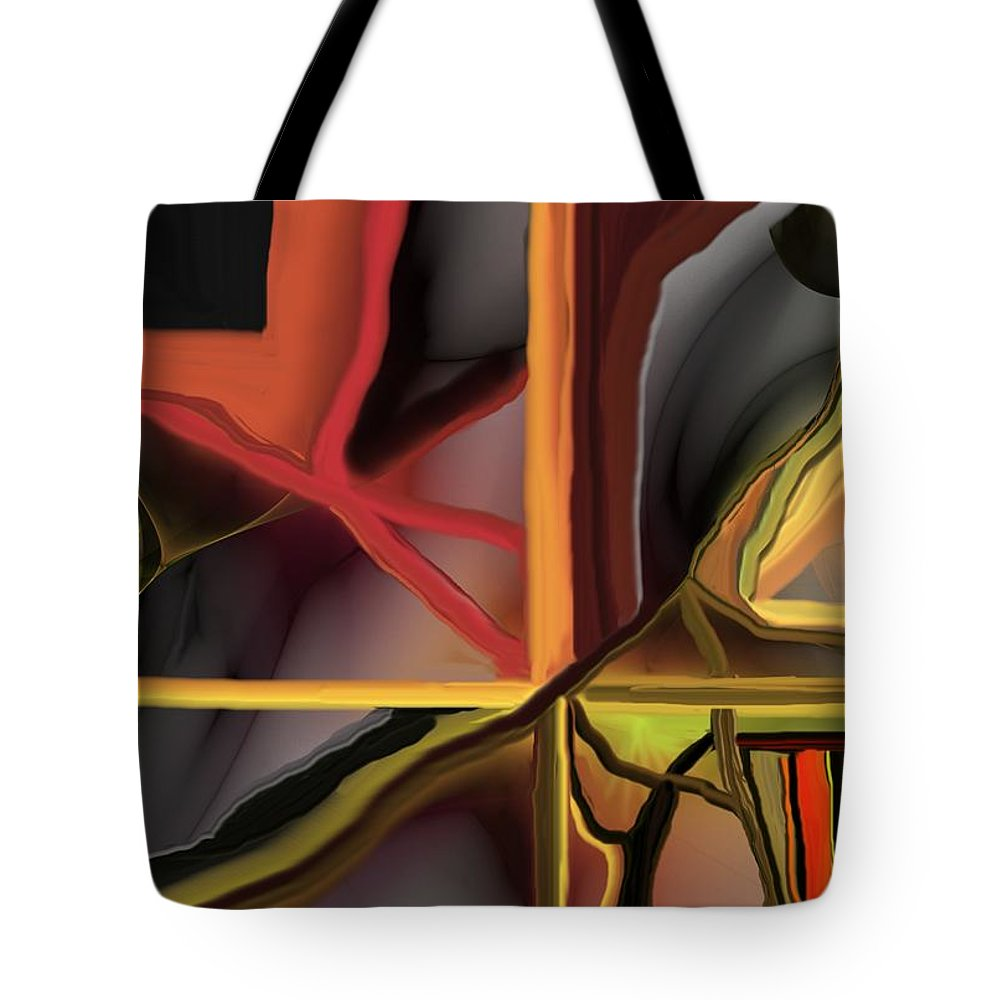 Abstract Tote Bag featuring the digital art Dreamscape 062510 by David Lane