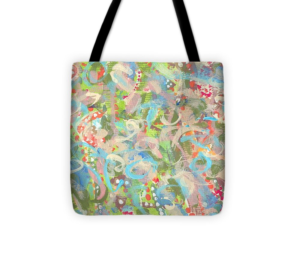 Abstract Tote Bag featuring the painting Dreamscape by Joanne Cox
