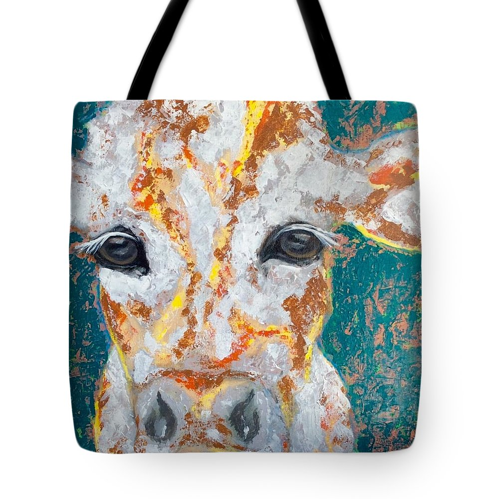 Cow Tote Bag featuring the painting Dreamsicle by Mary Papageorgiou
