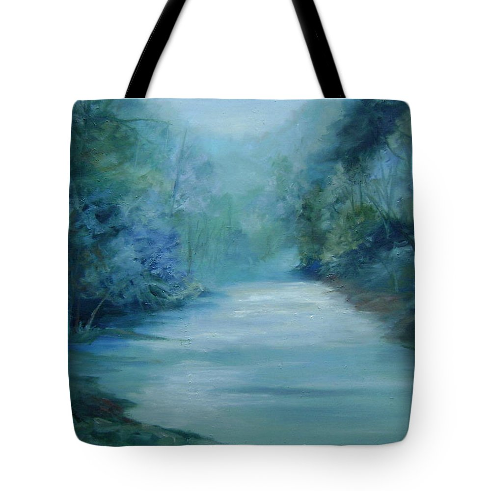 Burton River Georgia Tote Bag featuring the painting Dreamsome by Ginger Concepcion
