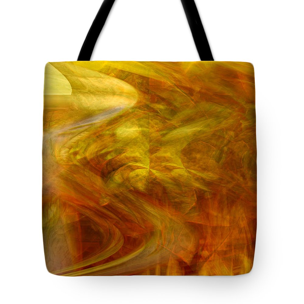 Abstract Art Tote Bag featuring the digital art Dreamstate by Linda Sannuti