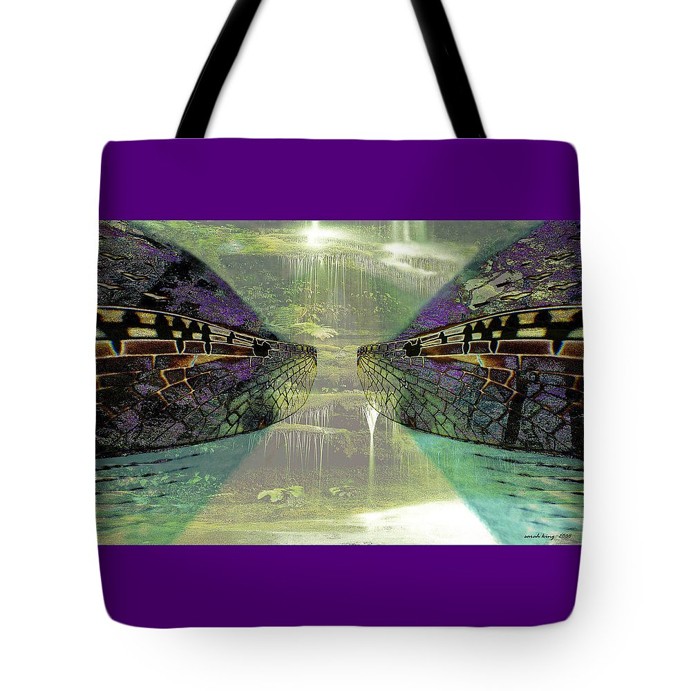Gondwana Tote Bag featuring the painting Dreamtime Gondwanaland by Sarah King