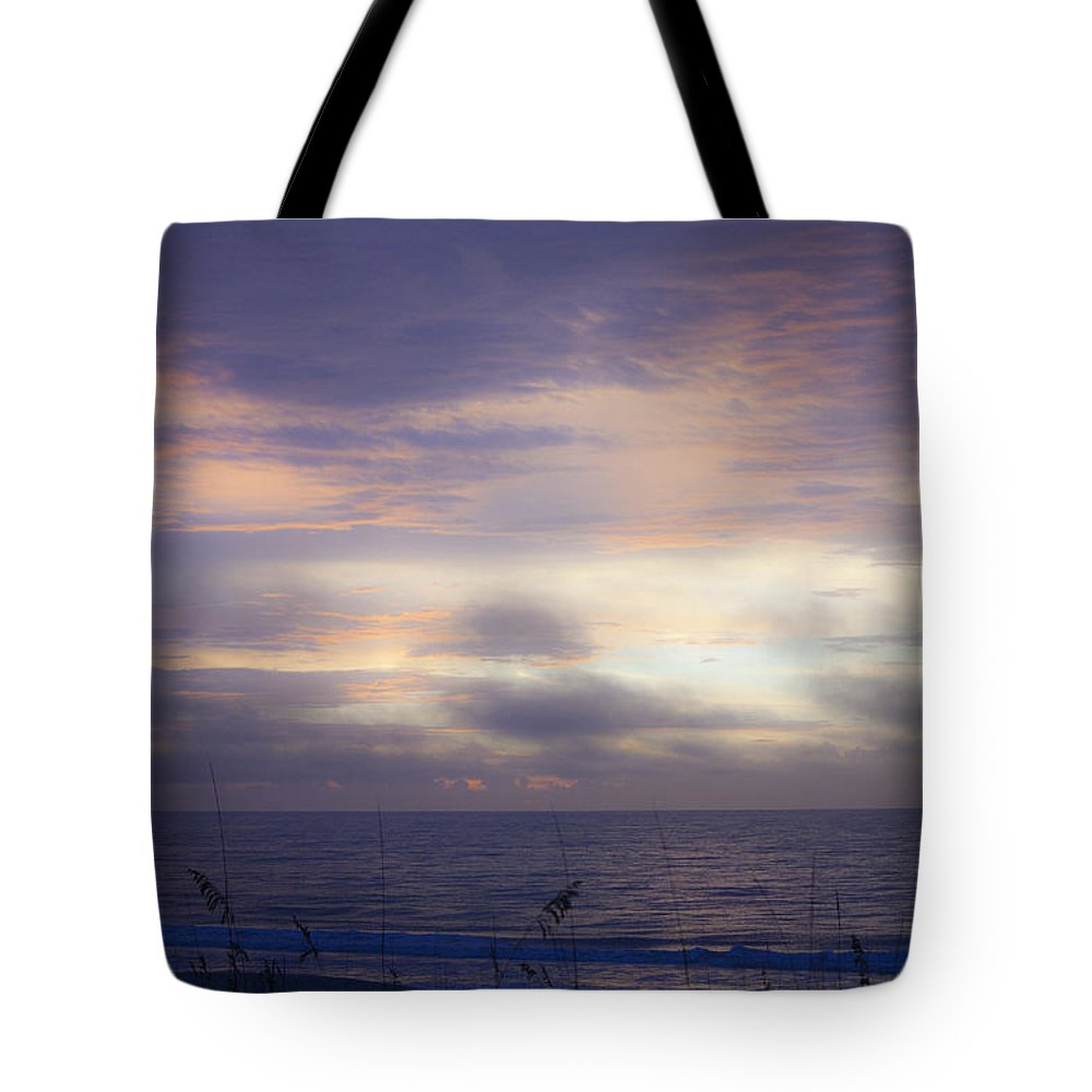 Sunrise Tote Bag featuring the photograph Dreamy Blue Atlantic Sunrise by Teresa Mucha