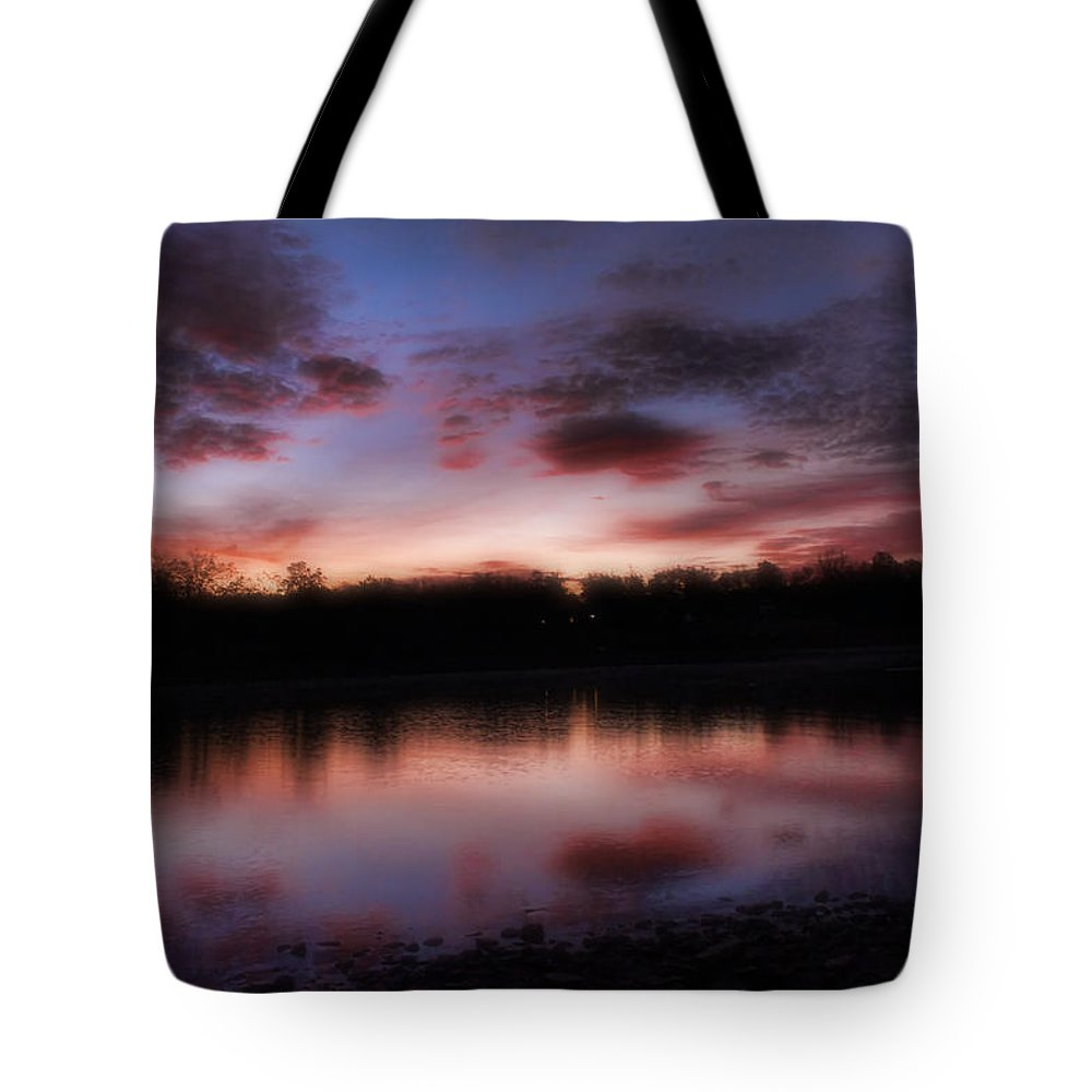 Sunrise Tote Bag featuring the photograph Dreamy Morning View by Carolyn Fletcher