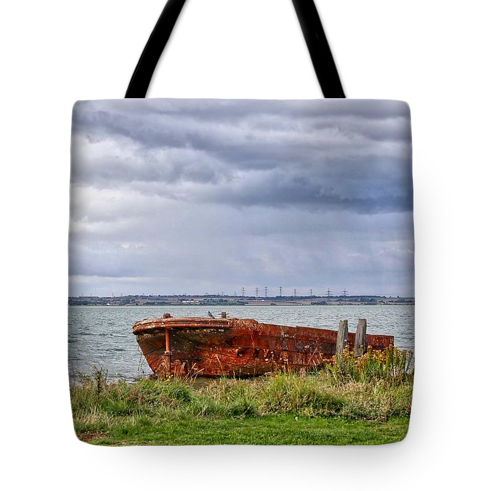 Boat Tote Bag featuring the photograph Dreamy Skies by Zahra Majid