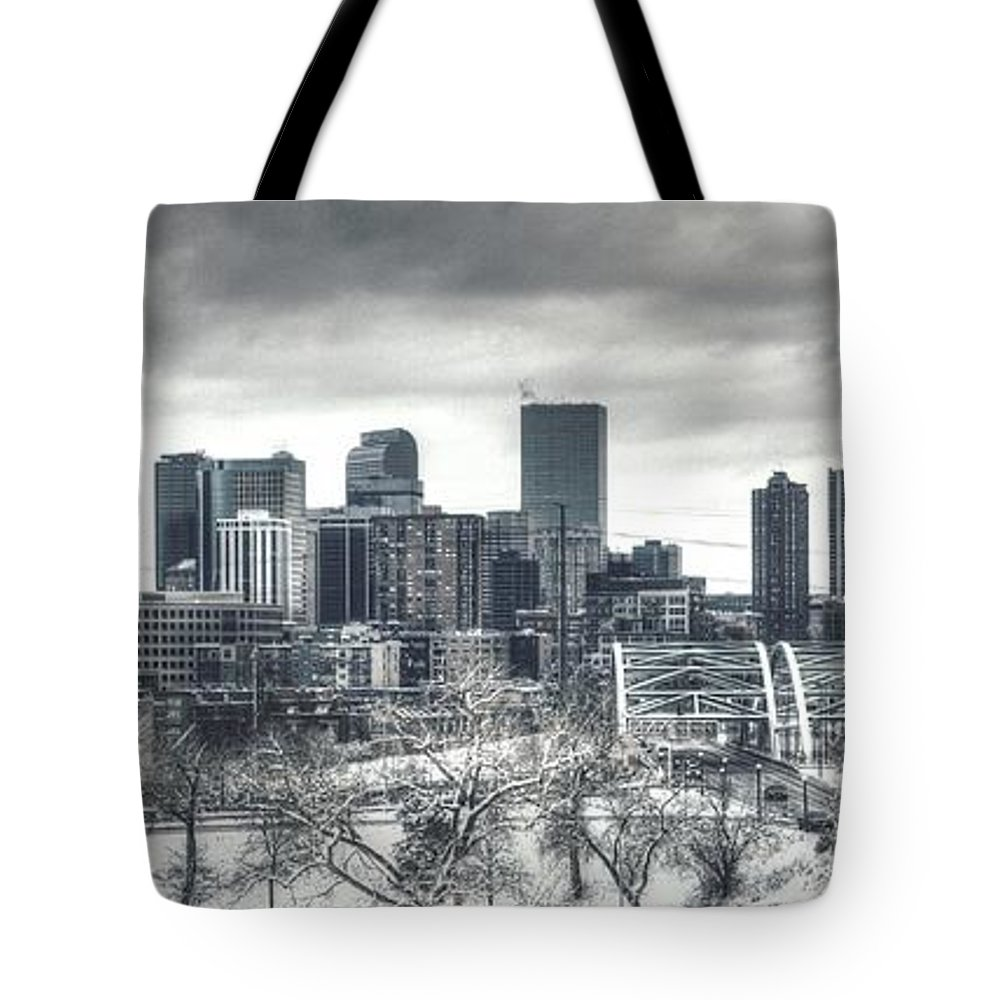 Denver Tote Bag featuring the photograph Dreary Denver by Ryan Harter