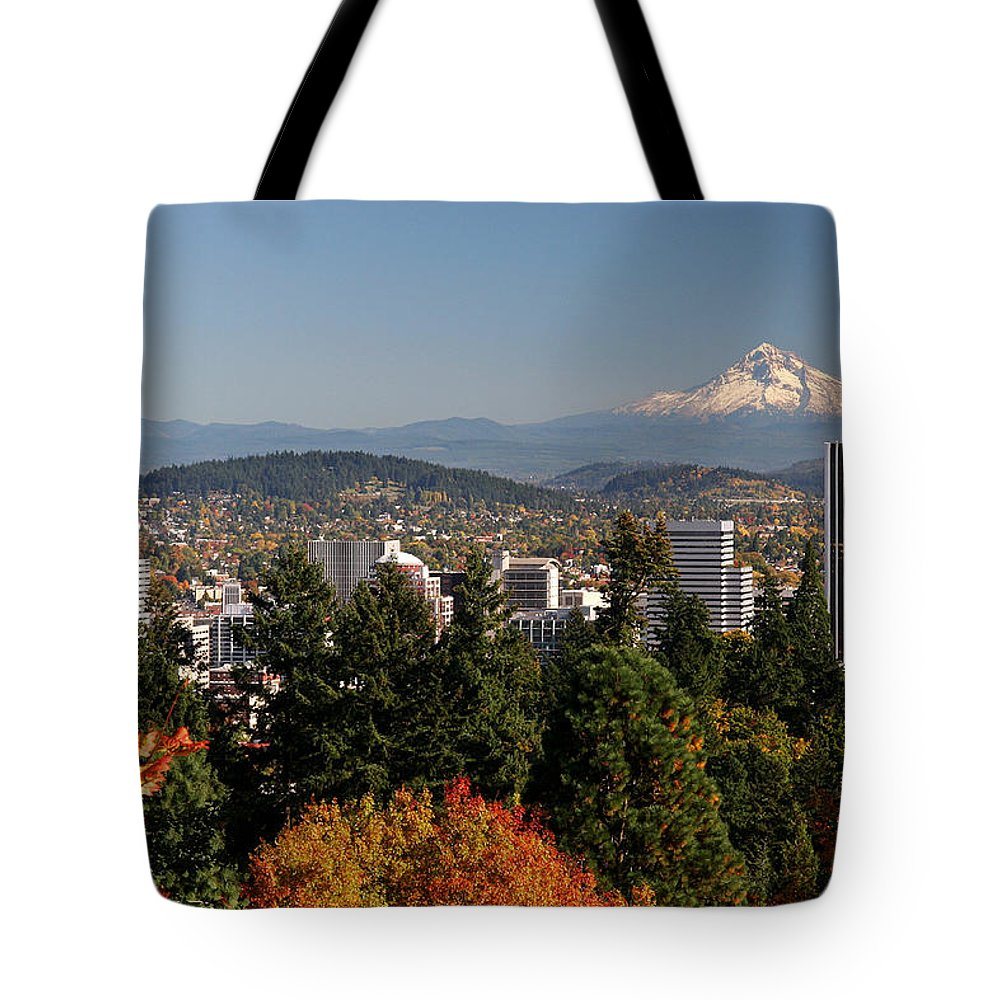 Dressed In Fall Colors Tote Bag featuring the photograph Dressed In Fall Colors by Wes and Dotty Weber