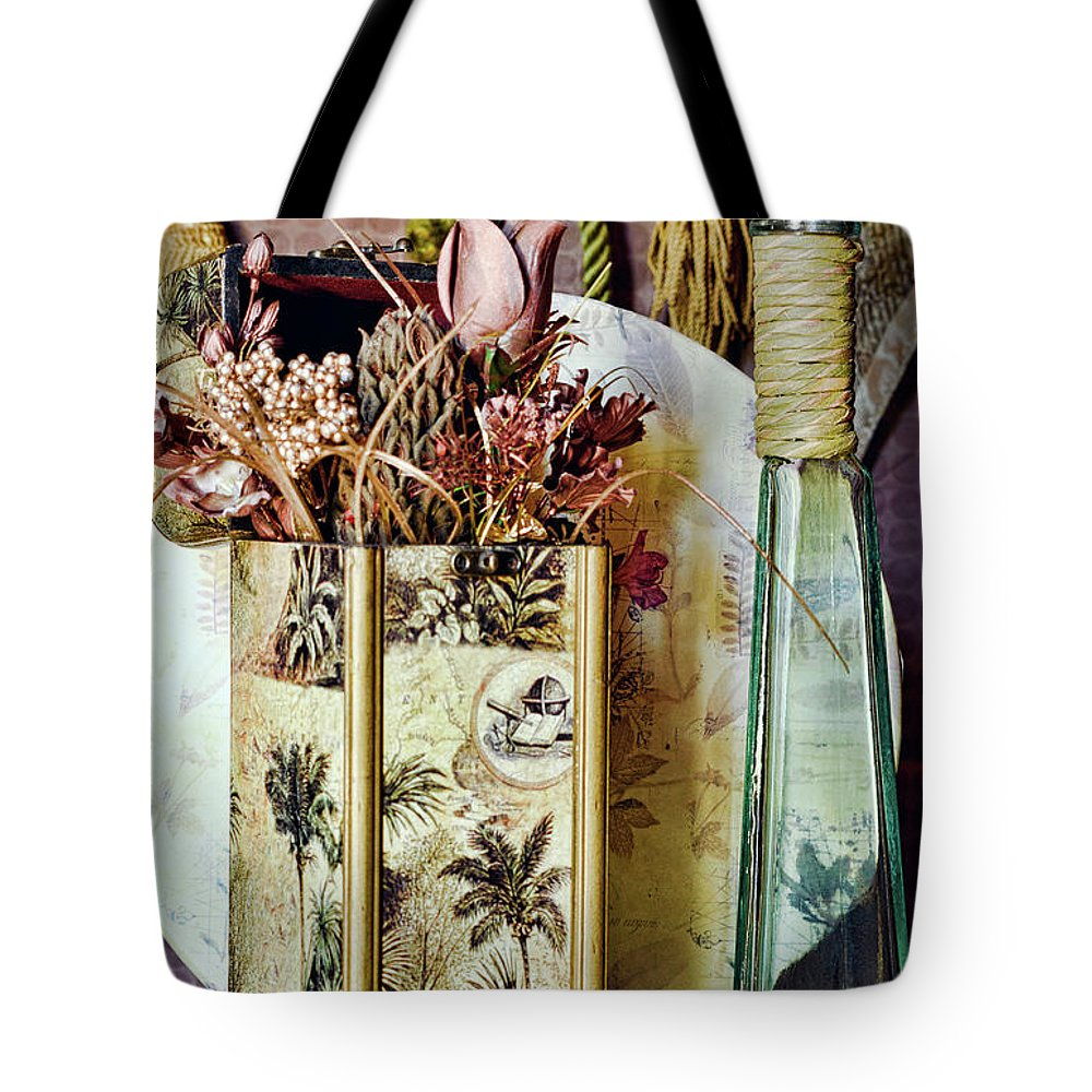 Dried Tote Bag featuring the photograph Dried Floral Still by Camille Lopez