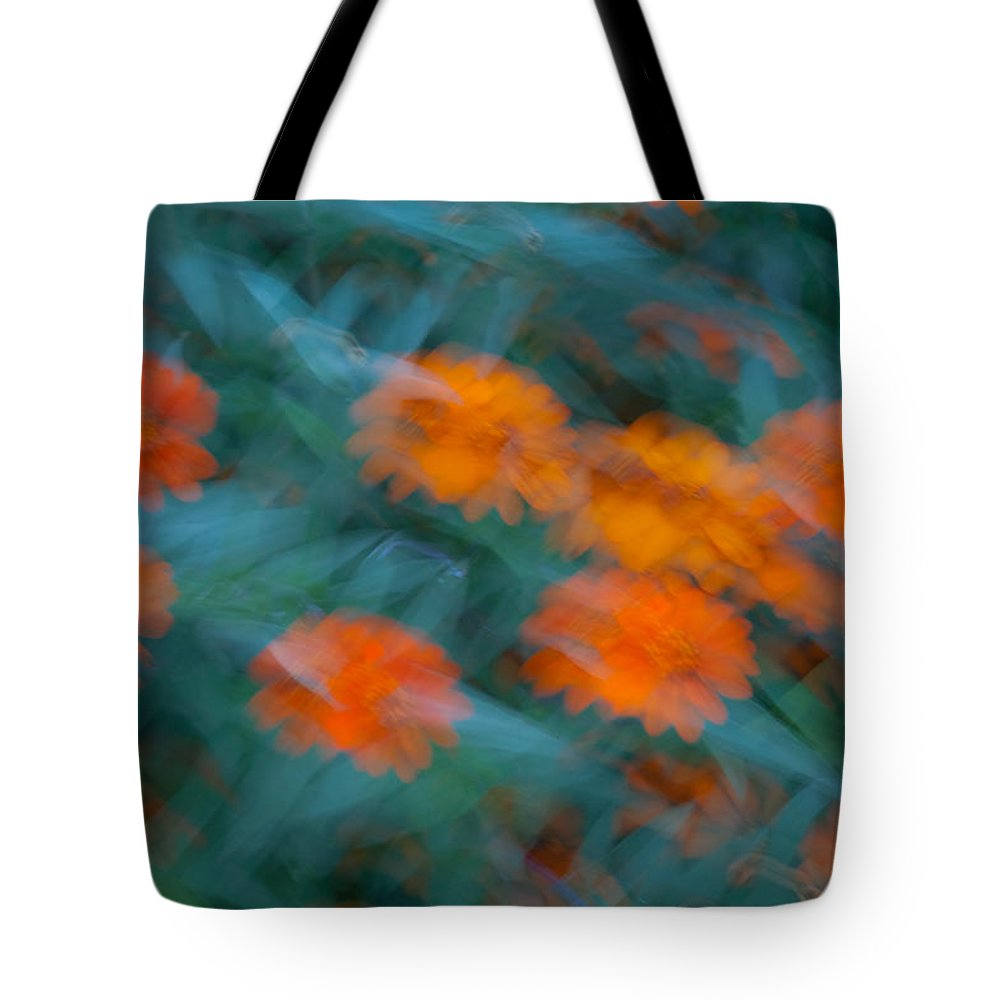 Drifting Tote Bag featuring the photograph Drifting Daisies by Douglas Barnett