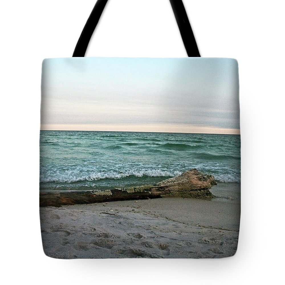 Driftwood Tote Bag featuring the photograph Driftwood 2 by David Campbell