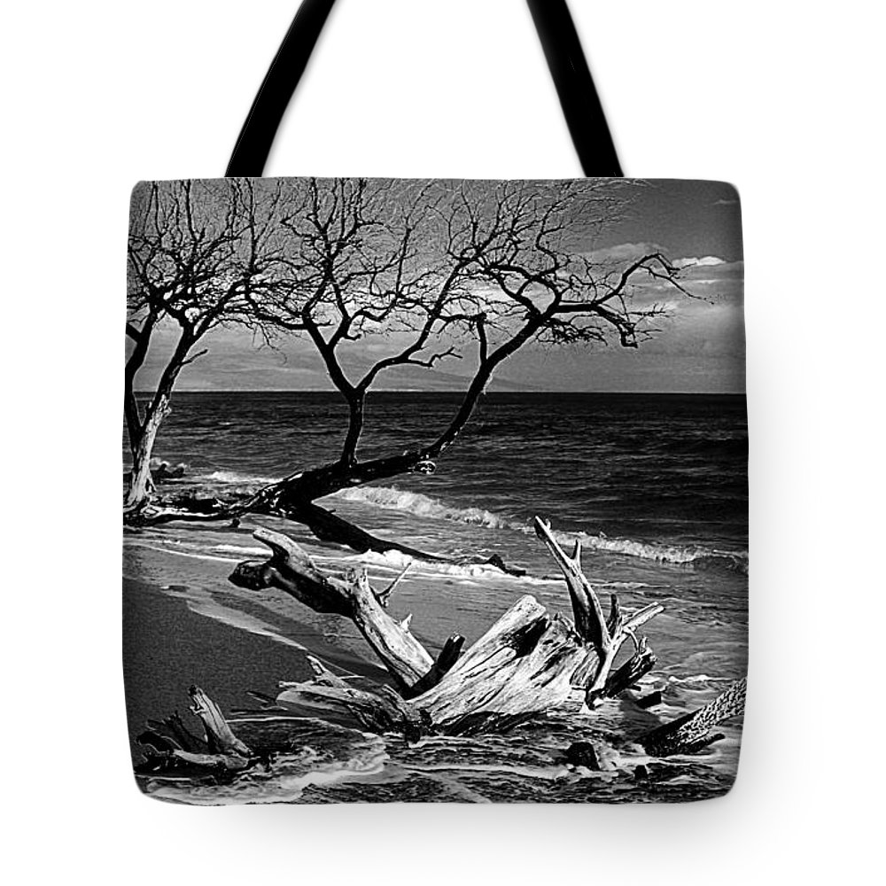 Fine Art Tote Bag featuring the photograph Driftwood Bw Fine Art Photography Print by James BO Insogna