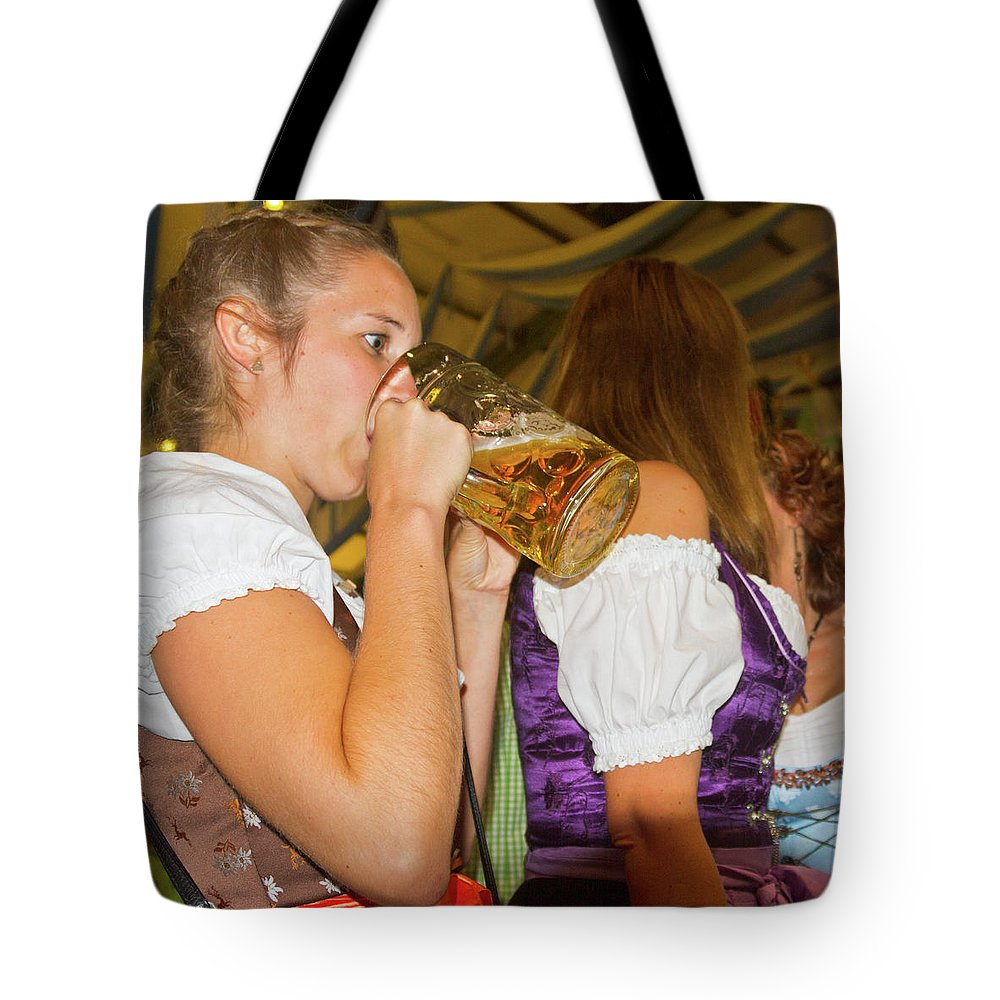 German Tote Bag featuring the photograph Drink Up by Bernard Barcos
