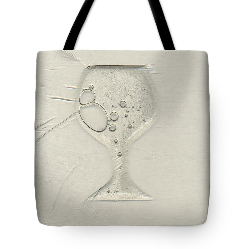 Wine Tote Bag featuring the painting Drinking Alone by Rick Silas
