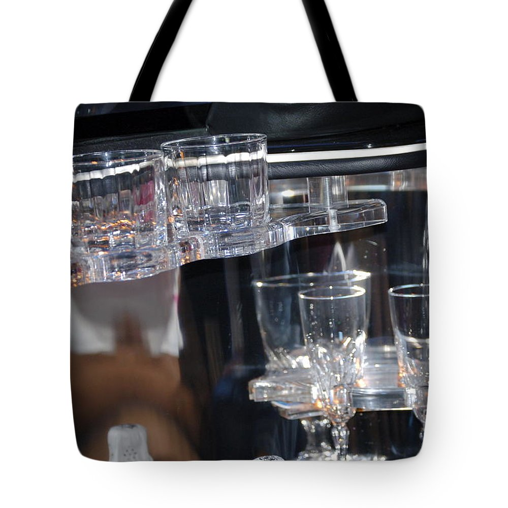 Glass Tote Bag featuring the photograph Drinks Anyone by Faith Harron Boudreau