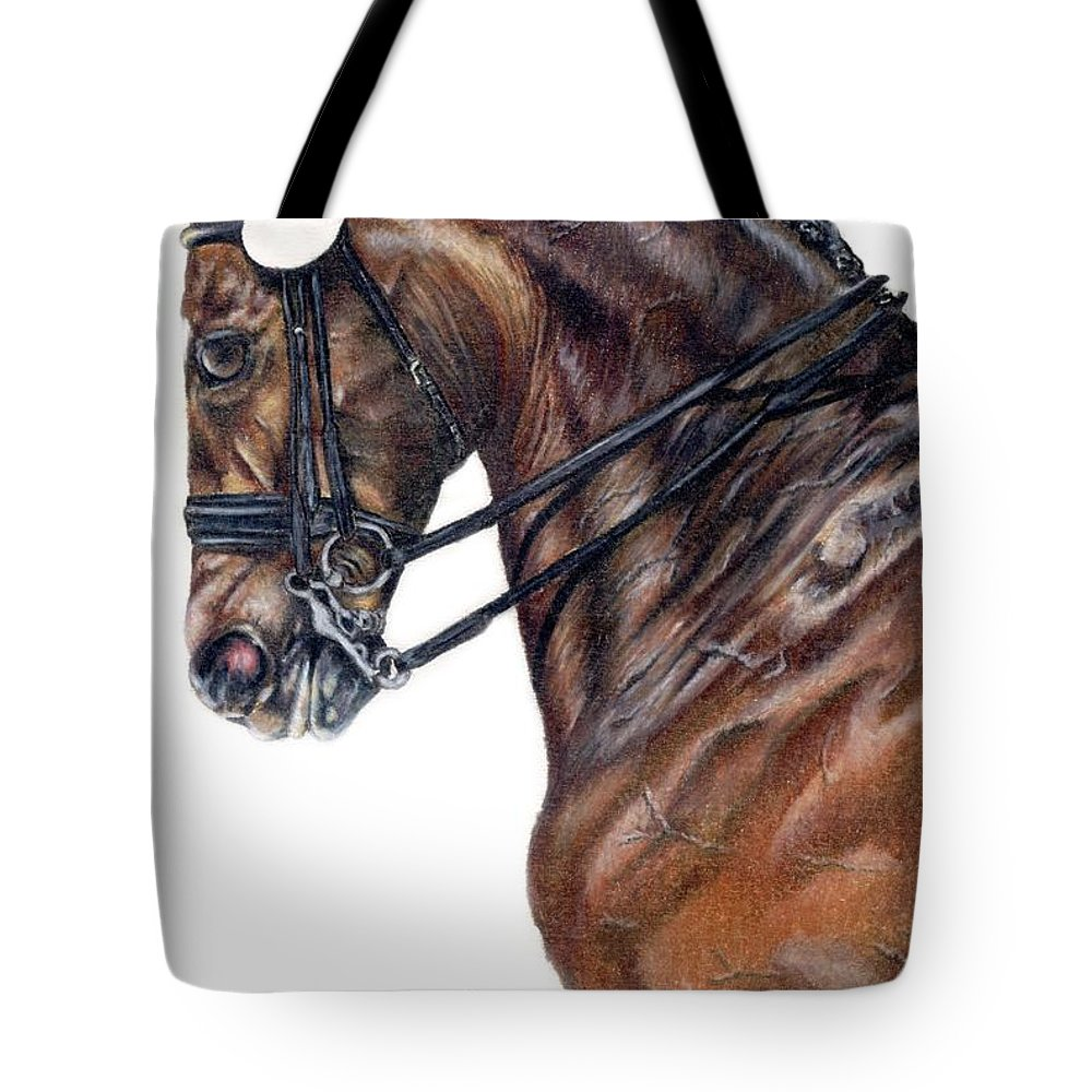 Horse Tote Bag featuring the drawing Driven by Kristen Wesch