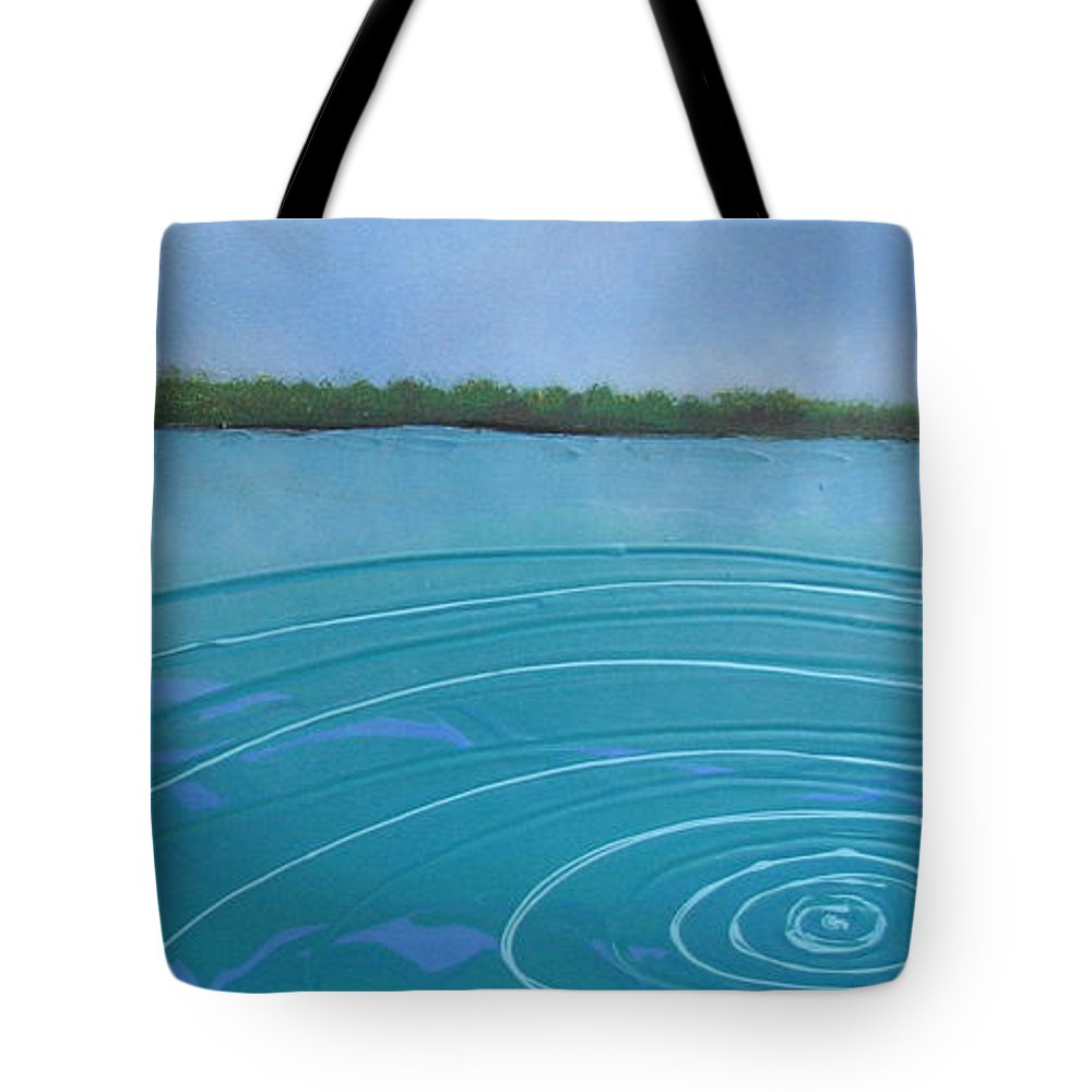 Sea Tote Bag featuring the painting Drop In The Ocean by Joan Stratton