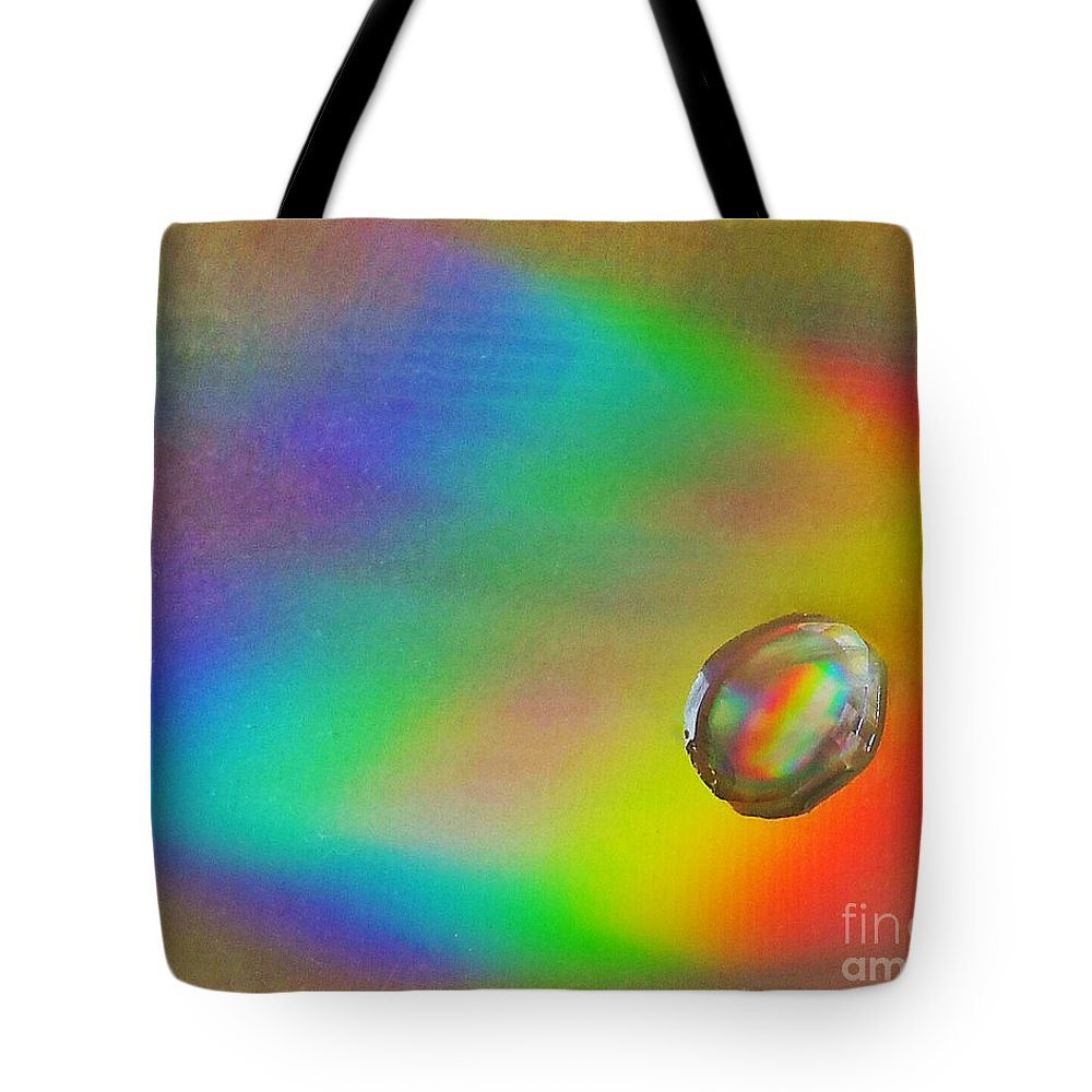Rainbow Tote Bag featuring the photograph Drop by Rob Mandell