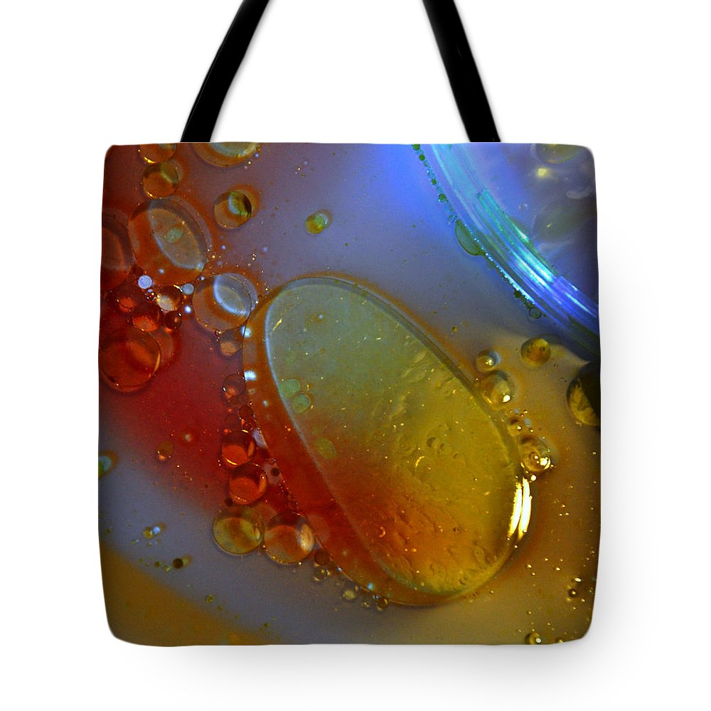 Drops Tote Bag featuring the photograph Drops And Rainbow by Damijana Cermelj