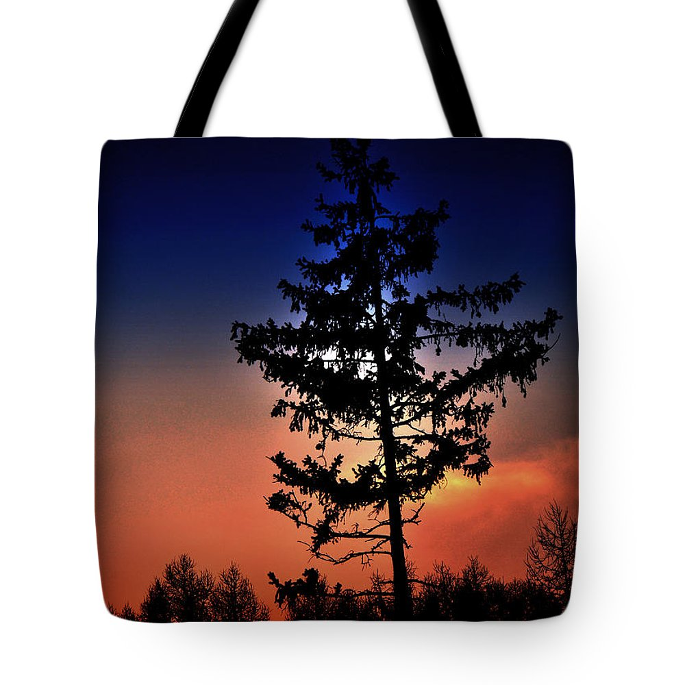Colourful Tote Bag featuring the photograph Colorful Sunset by Damijana Cermelj