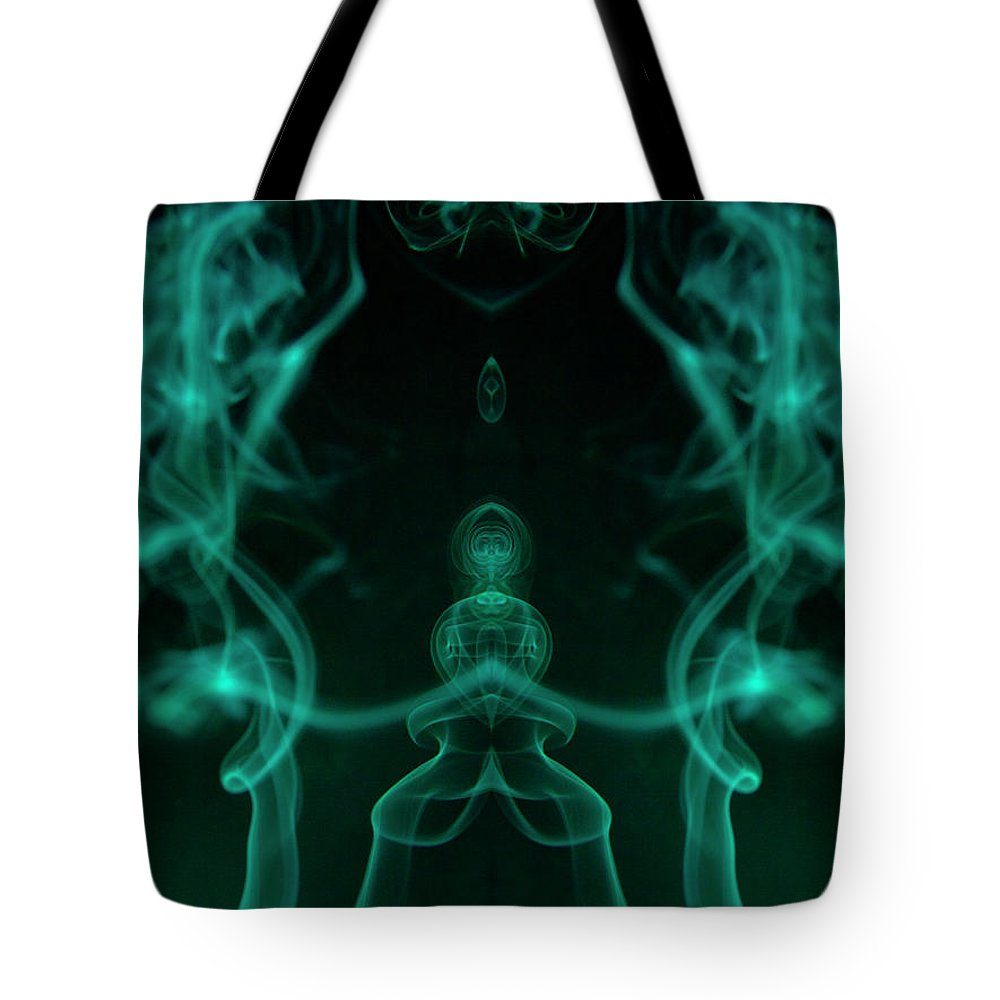 Smoke Tote Bag featuring the digital art Drops of Smoke by Andrea Lawrence