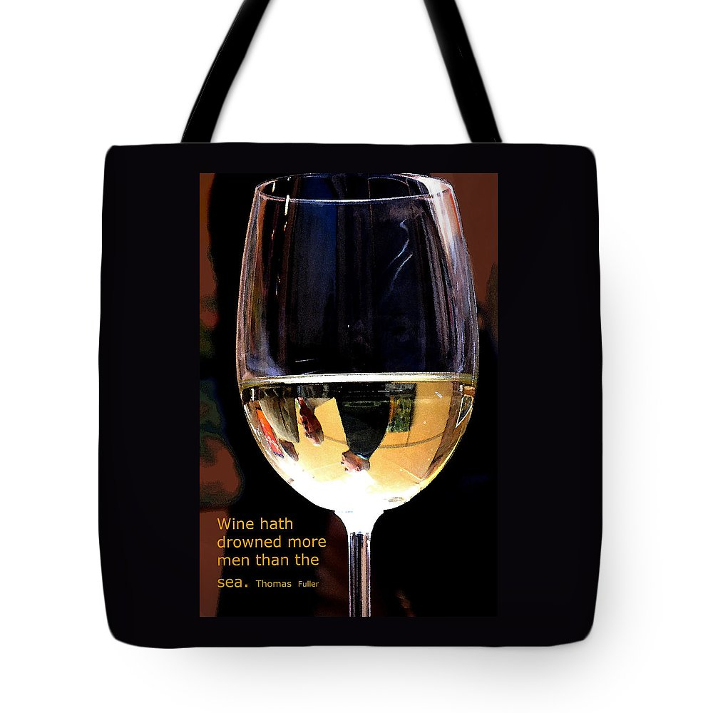 Wine Tote Bag featuring the photograph Drowning by Ian MacDonald