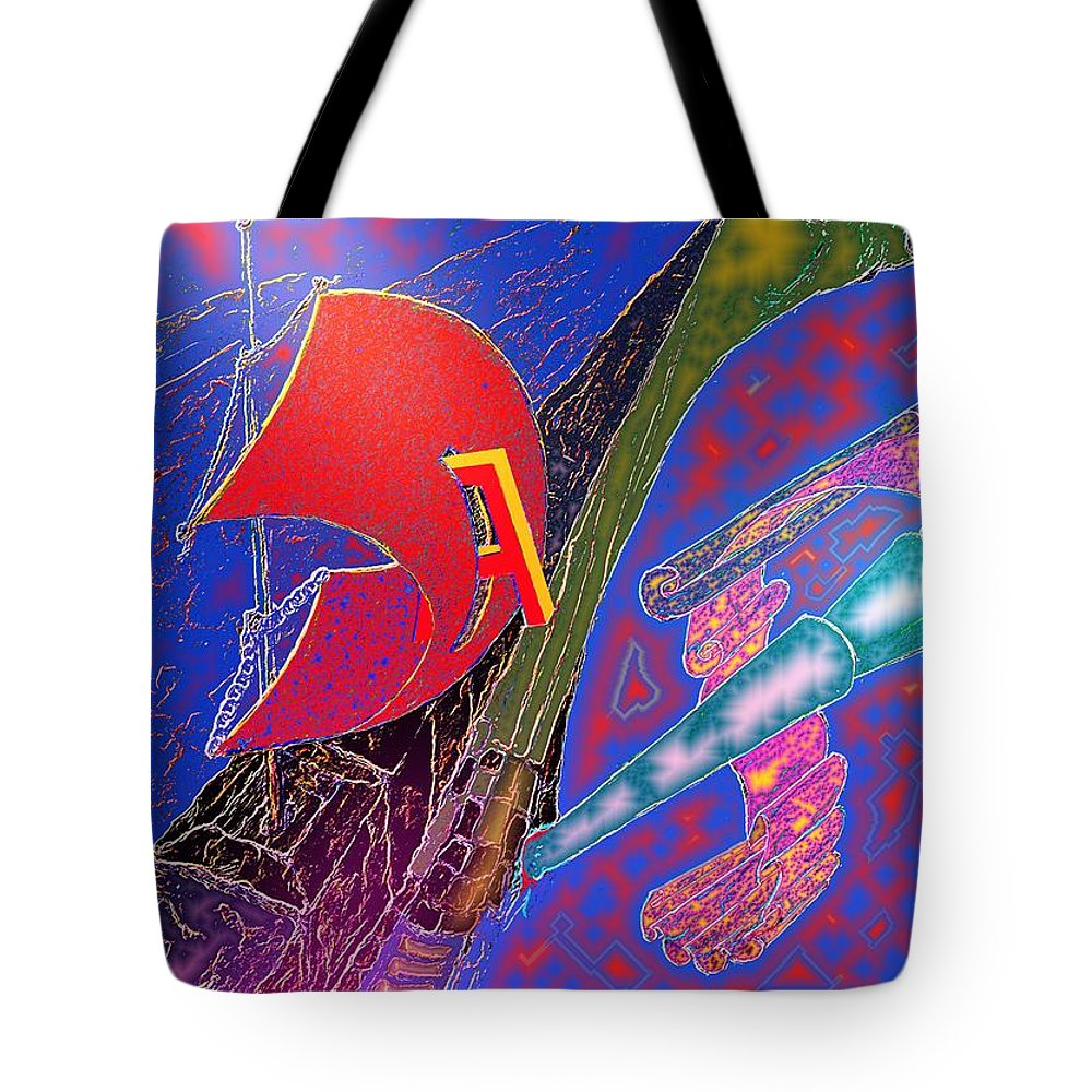 Drugs Tote Bag featuring the digital art Drugs by Helmut Rottler